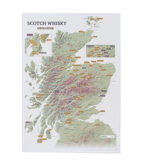 Scotch Whisky Collect & Scratch Map Books