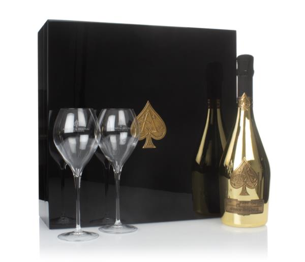 Armand de Brignac Blanc Ace of Spades Gold Gift Pack with 2x Glasses Non Vintage Champagne