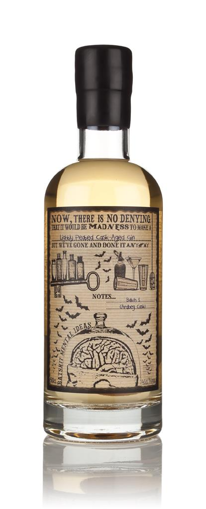 Lightly Peated Cask Aged Bathtub Gin (Batshit Mental Ideas) 3cl Sample Cask Aged Gin