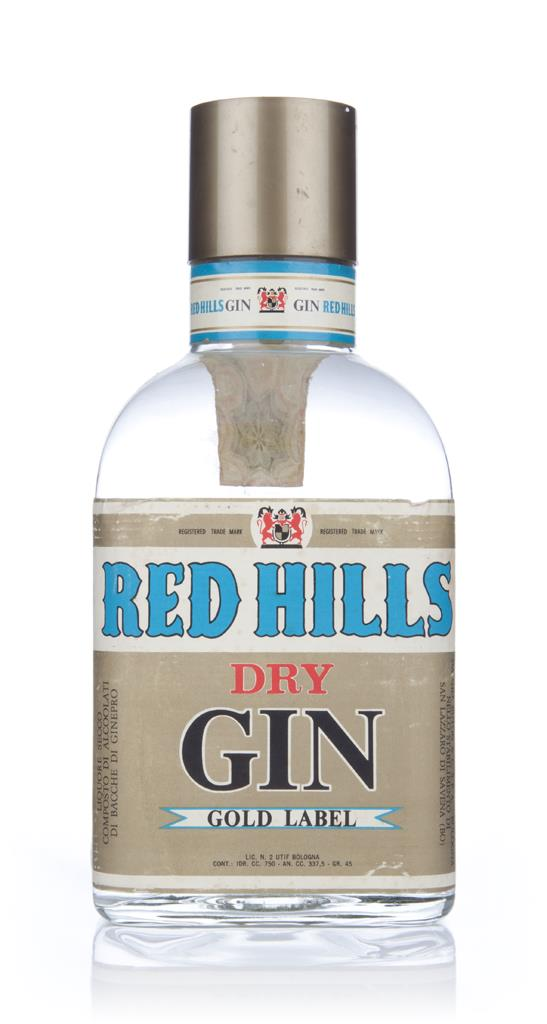 Red Hills Dry Gin Gold Label - 1960s Gin