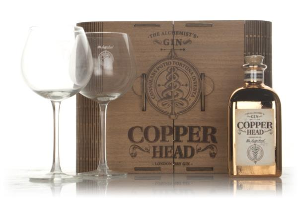 Copperhead Luxe Box Gift Pack with 2x Glasses Gin