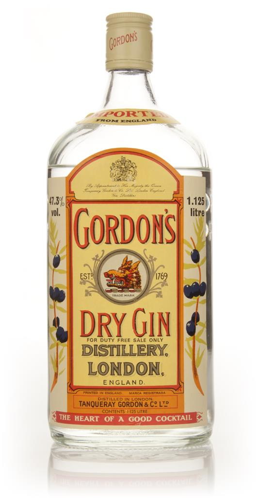Gordons London Dry Gin 1.125L - 1970s (Low Fill Level) London Dry Gin
