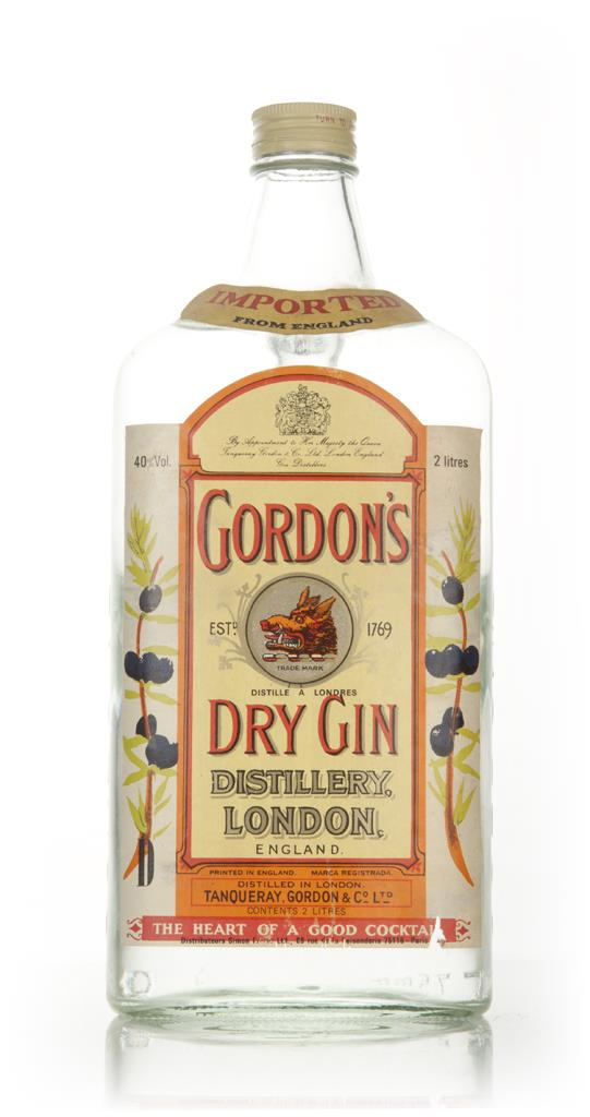 Gordons London Dry Gin 2l - 1970s London Dry Gin
