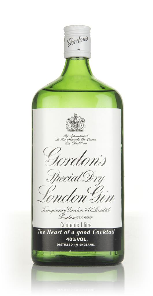 Gordons Special Dry London Gin (1L) - 1980s London Dry Gin