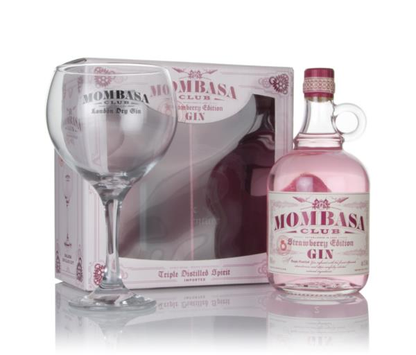 Mombasa Club Strawberry Club Edition Gift Pack with Glass Flavoured Gin