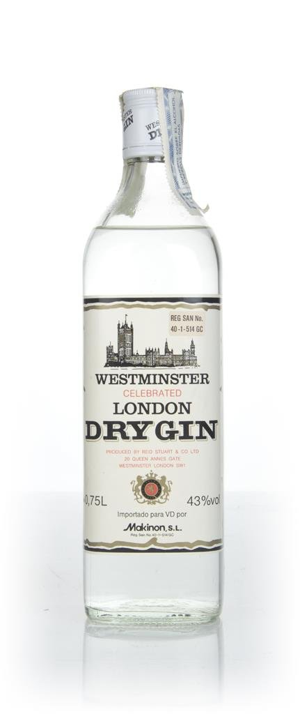 Westminster Celebrated London Dry Gin - 1970s London Dry Gin