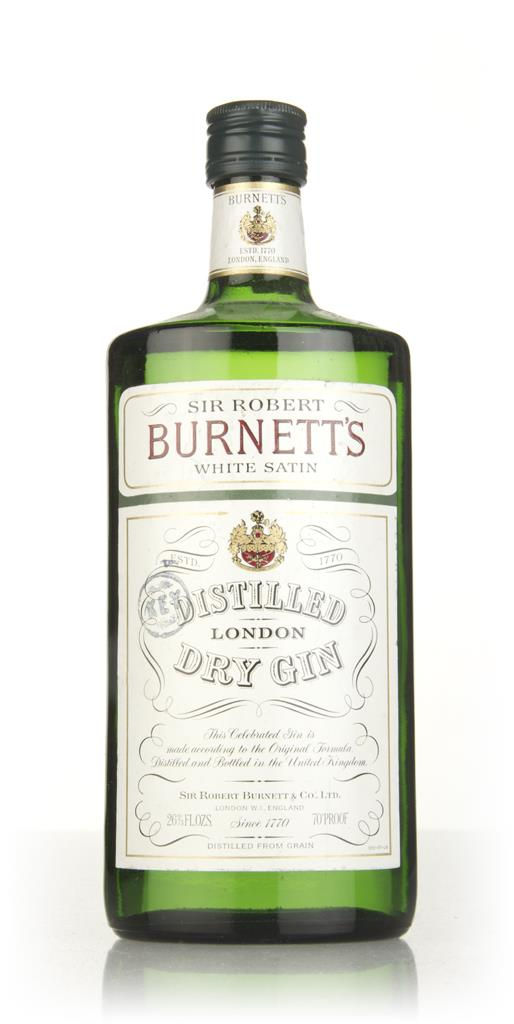 Robert Burnetts White Satin London Dry Gin - 1980s London Dry Gin