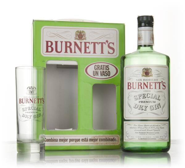 Burnetts White Satin London Dry Gin Gift Pack with Glass - 1970s London Dry Gin