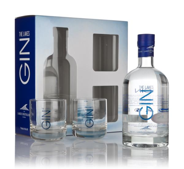 The Lakes Gin Gift Pack with 2x Glasses Gin