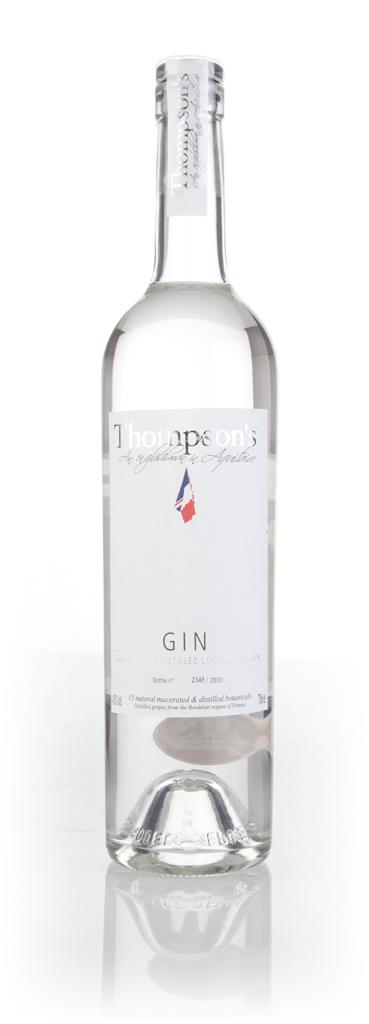 Thompsons Small Batch Gin 3cl Sample London Dry Gin