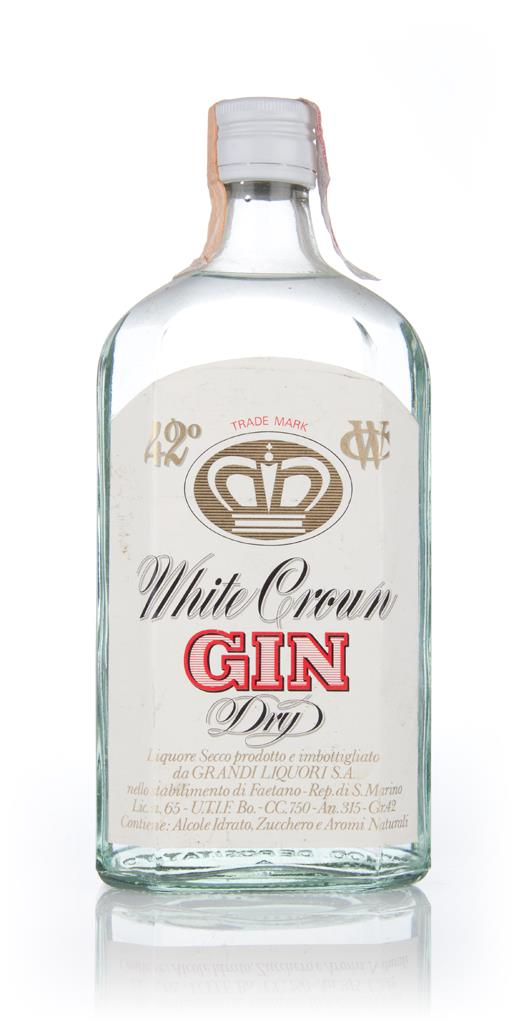 White Crown Dry Gin - 1970s Gin