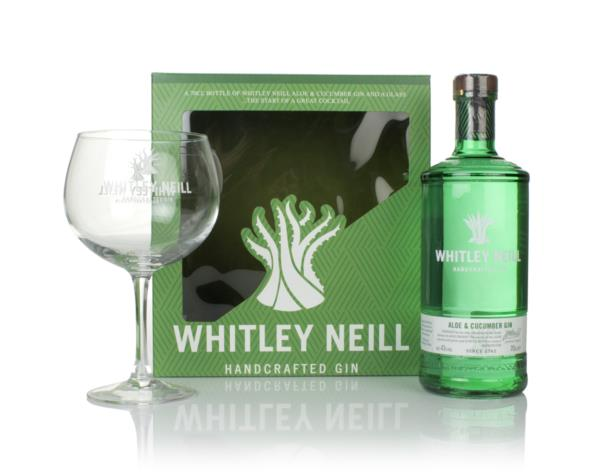 Whitley Neill Aloe & Cucumber Gin Gift Pack with Glass Flavoured Gin