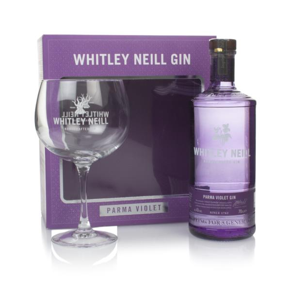 Whitley Neill Parma Violet Gin Gift Pack with Glass Flavoured Gin
