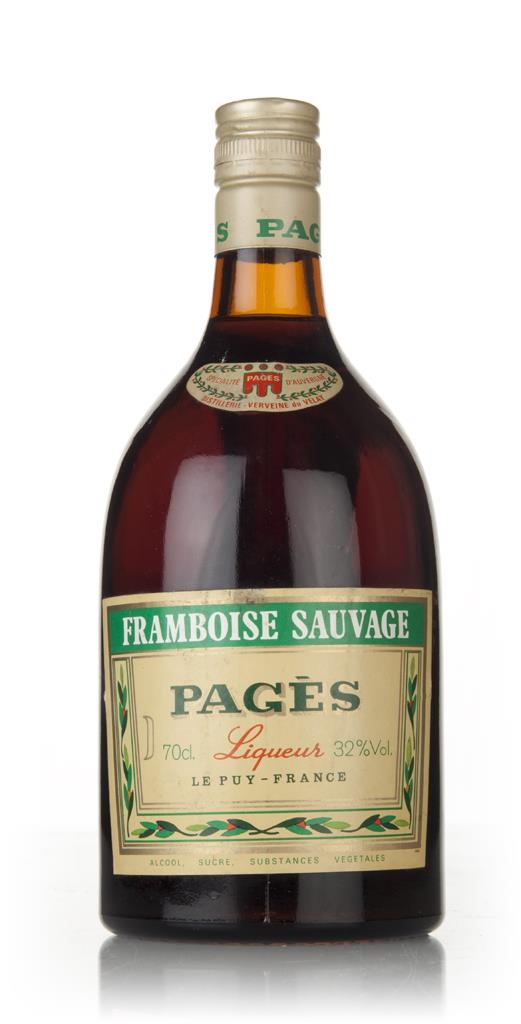 Pages Framboise Sauvage - 1970s Liqueurs