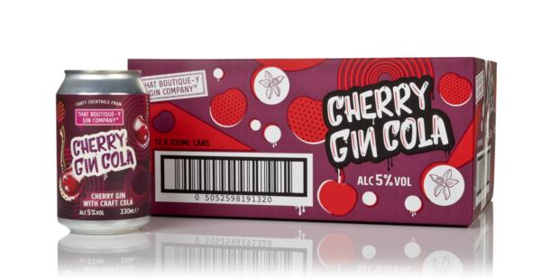 That Boutique-y Gin Company Cherry Gin Cola (12 x 330ml) Pre-Bottled Cocktails