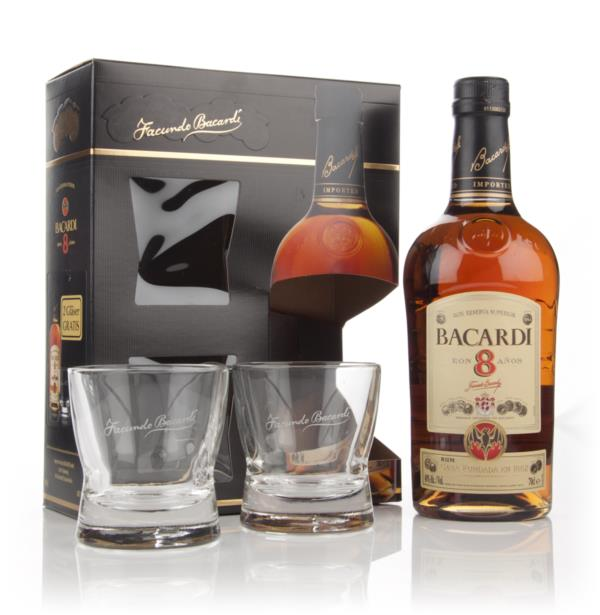 Bacardi 8 Year Old Gift Pack Dark Rum
