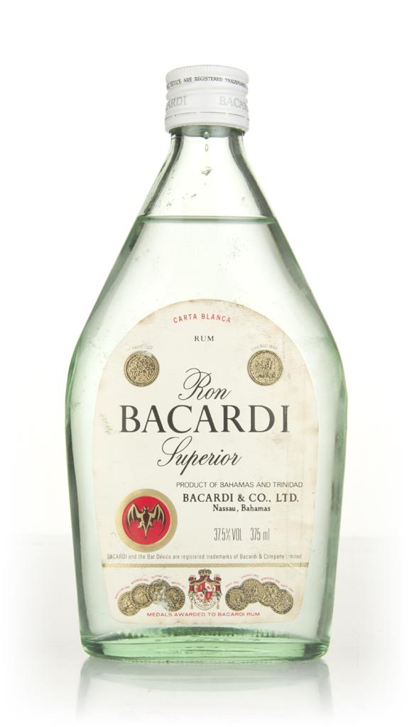 Bacardi Superior - 1980s 38cl White Rum