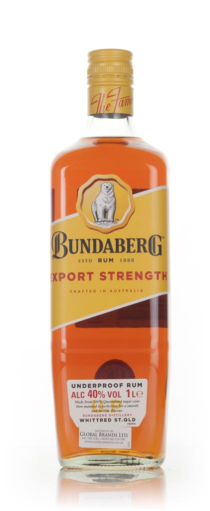 Bundaberg Rum Export Strength 1L 3cl Sample Dark Rum