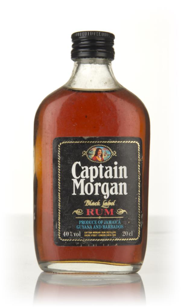 Captain Morgan Black Label 20cl - 1970s Dark Rum