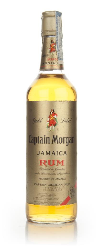Captain Morgan Gold Label Jamaica Rum - 1980s Dark Rum