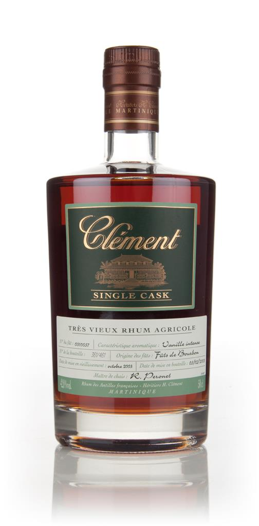 Clement 10 Year Old 2003 (cask 0310057) - Single Cask Rhum Agricole Rum