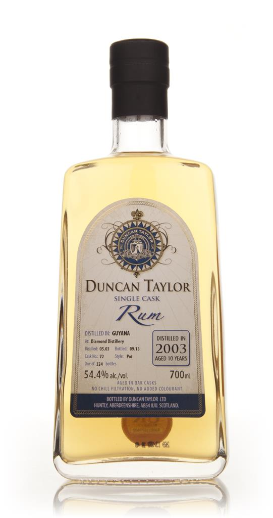 Diamond 10 Year Old 2003 (Cask 72) - Single Cask Rum (Duncan Taylor) Dark Rum