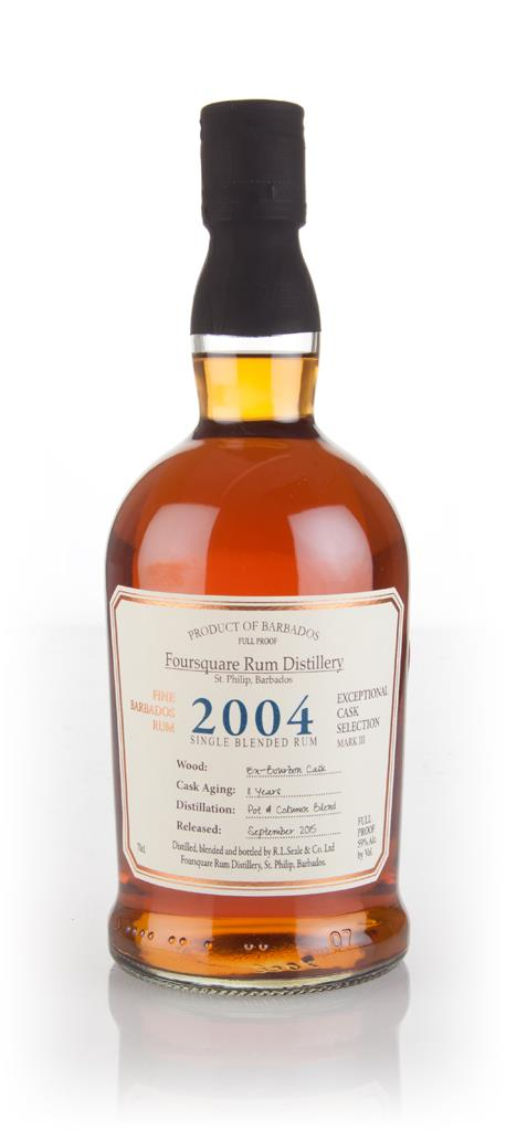 Foursquare 11 Year Old 2004 - Exceptional Cask Selection Dark Rum