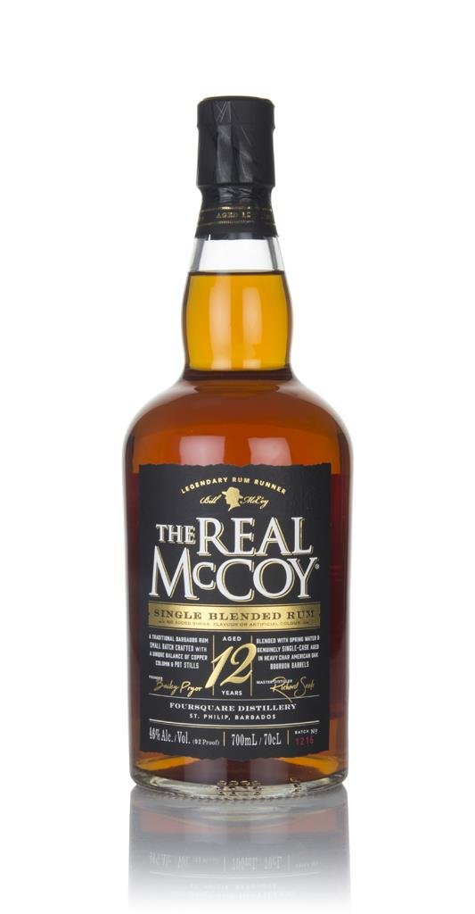 The Real McCoy 12 Year Old Single Blended Dark Rum
