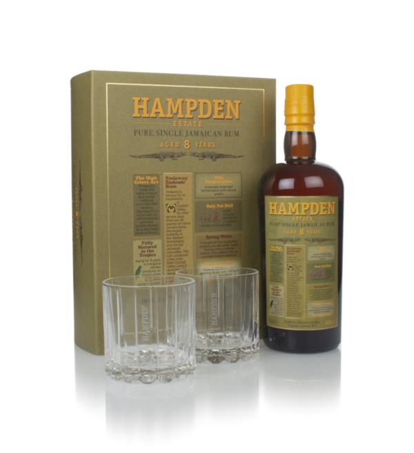 Hampden Estate 8 Year Old Gift Pack with 2x Glasses Dark Rum