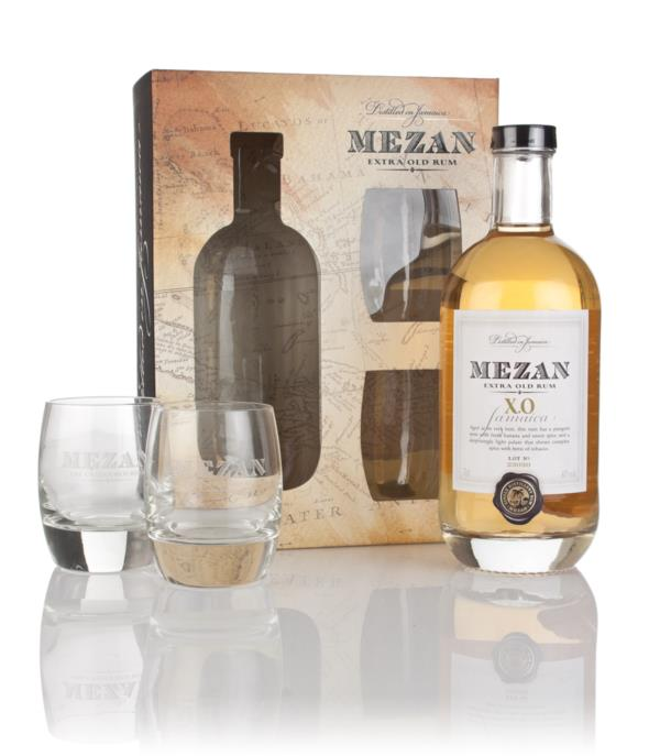 Mezan Jamaica XO Gift Pack with 2x Glasses Dark Rum