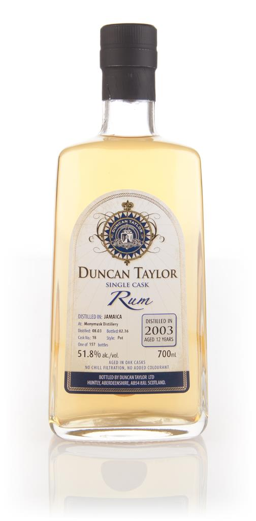 Monymusk 12 Year Old 2003 (cask 18) - Single Cask Rum (Duncan Taylor) Dark Rum