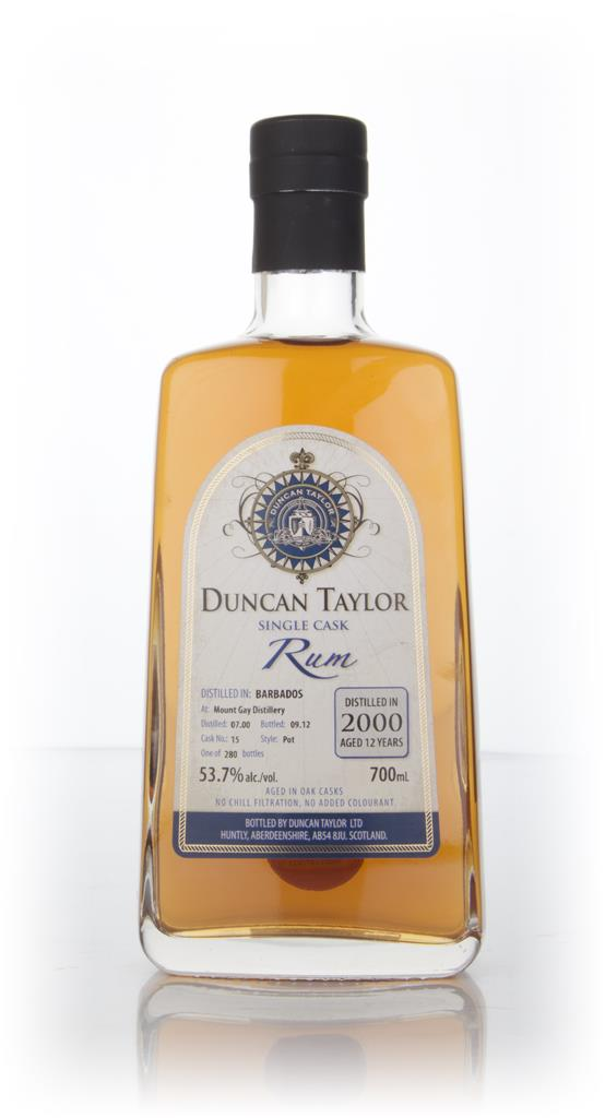 Mount Gay 12 Year Old 2000 Rum (cask 15) (Duncan Taylor) Dark Rum