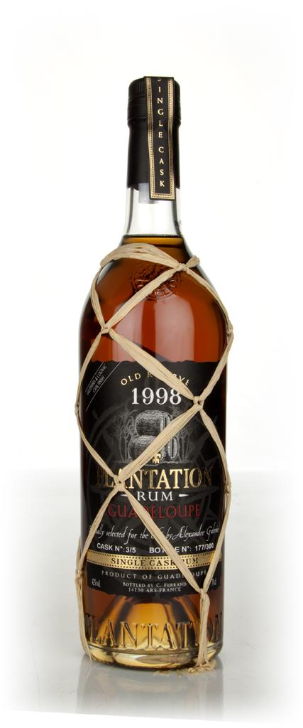 Plantation Single Cask Guadeloupe 1998 Sauternes Cask Finish Dark Rum