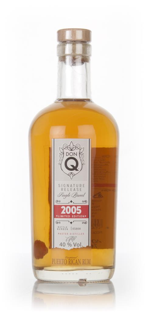 Don Q Signature Release Single Barrel 2005 3cl Sample Dark Rum