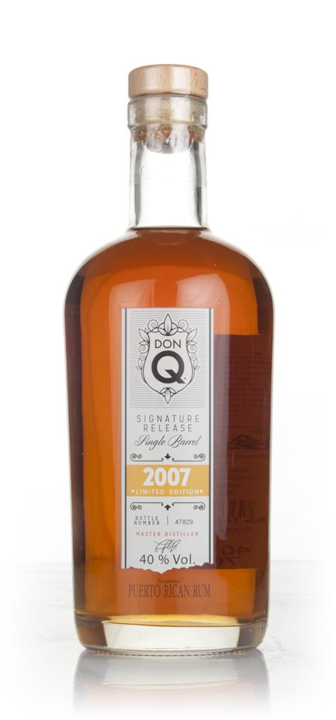 Don Q Signature Release Single Barrel 2007 Dark Rum