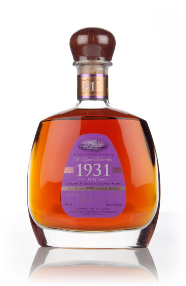 St Lucia Distillers 1931 Second Edition Dark Rum