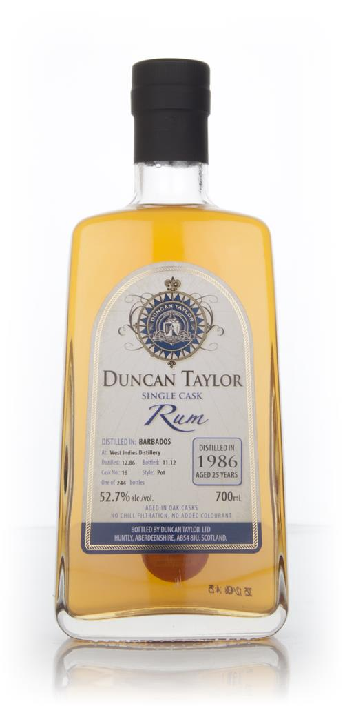 West Indies 25 Year Old 1986 Rum (cask 16) (Duncan Taylor) Dark Rum