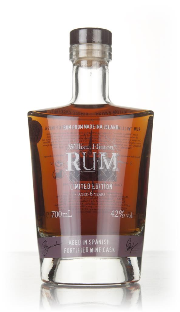 William Hinton 6 Year Old Spanish Fortified Wine Cask Matured Rhum Agricole Rum