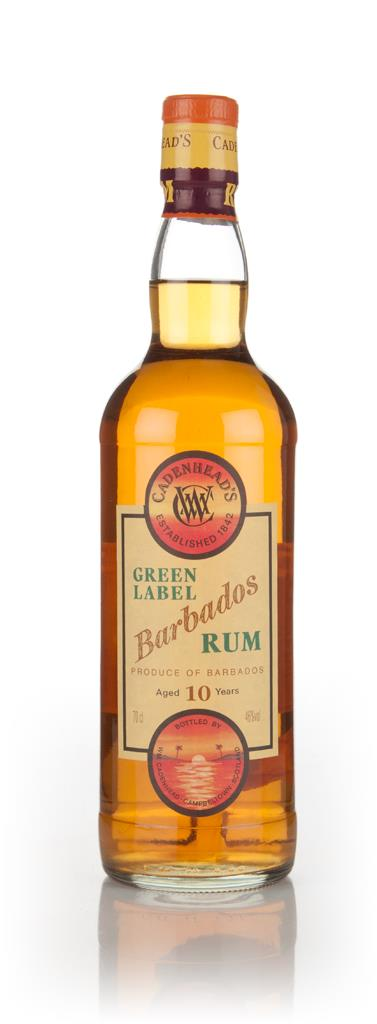 WM Cadenhead 10 Year Old Green Label Barbados Dark Rum