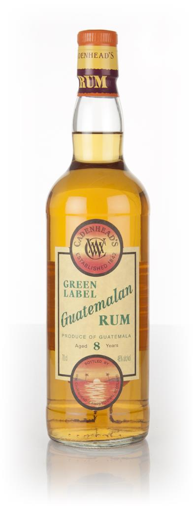 WM Cadenhead 8 Year Old Green Label Guatemalan Dark Rum