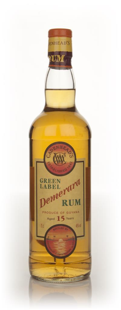 WM Cadenhead Green Label 15 Year Old Demerara Dark Rum