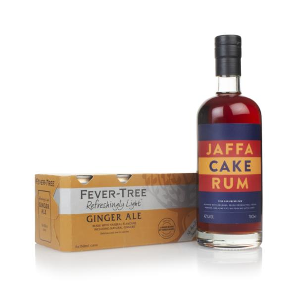 Jaffa Cake Rum and Fever-Tree Refreshingly Light Ginger Ale Fridge Pac Flavoured Rum