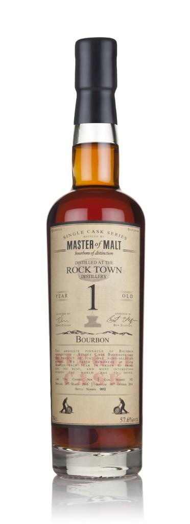 Rock Town 1 Year Old 2015 (cask 352) - Single Cask (Master of Malt) Bourbon Spirit