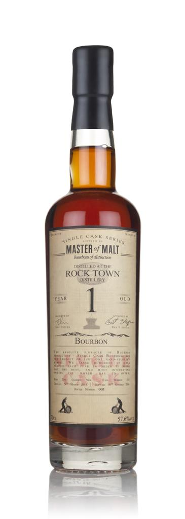 Rock Town 1 Year Old 2015 (cask 353) - Single Cask (Master of Malt) Bourbon Spirit