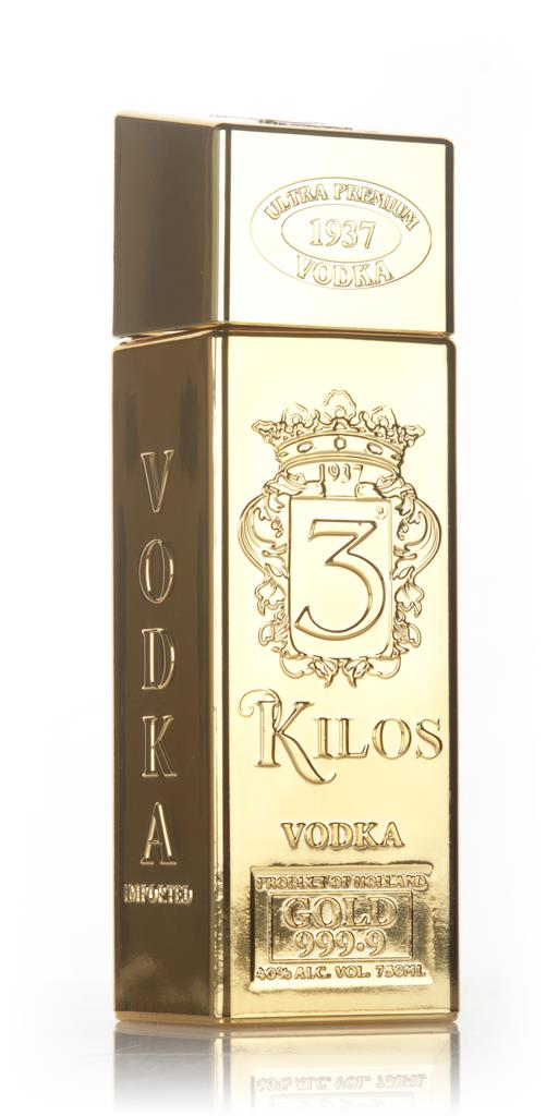 3 Kilos Gold Bar Plain Vodka