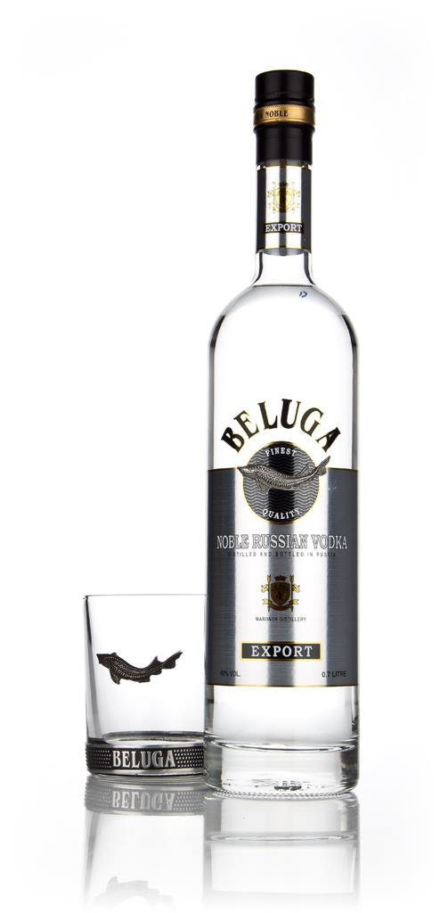 Beluga Noble Vodka with Branded Glass Plain Vodka