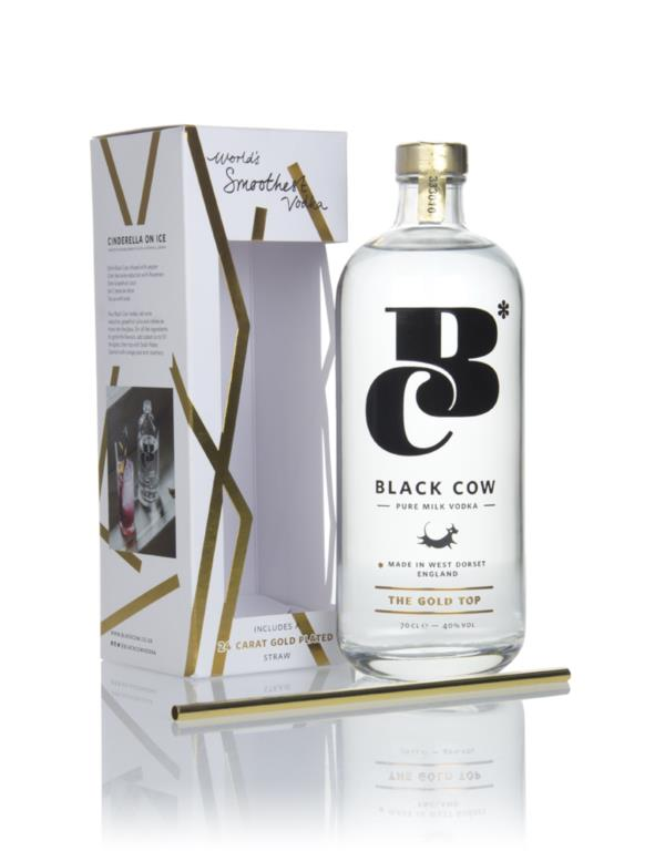 Black Cow Pure Milk Vodka Gift Pack with Gold Plated Straw Plain Vodka