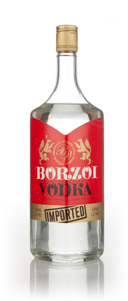 Borzoi Dry Imperial Vodka - 1970s Plain Vodka