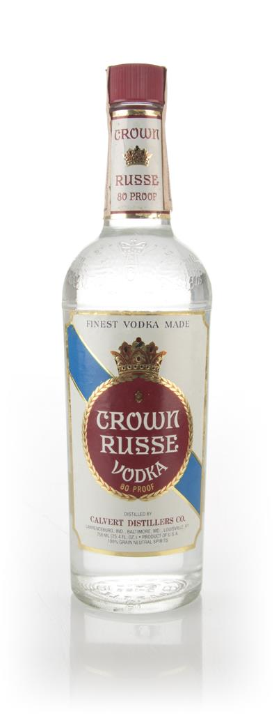 Crown Russe Vodka - 1970s Plain Vodka