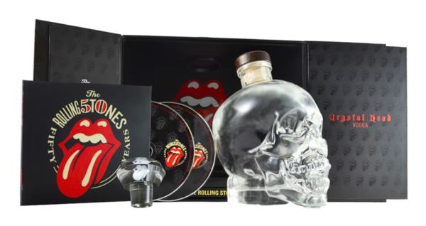 Crystal Head Vodka Rolling Stones 50th Anniversary Limited Edition Gif Plain Vodka